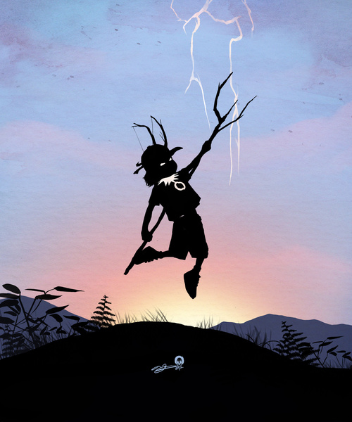Battling Thor as Loki