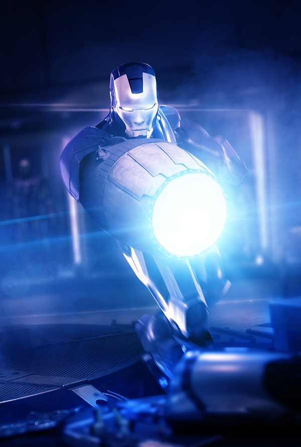 Iron Mega Man shooting cannon