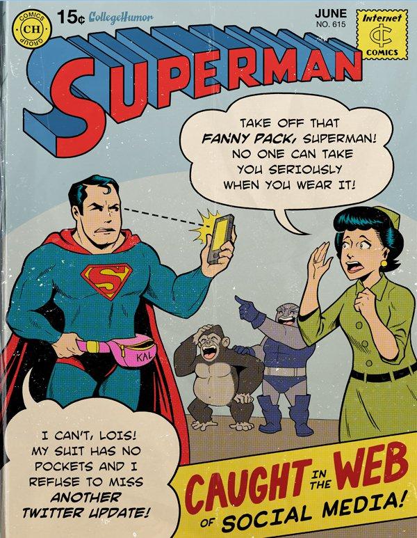 Modern Superman Social Media