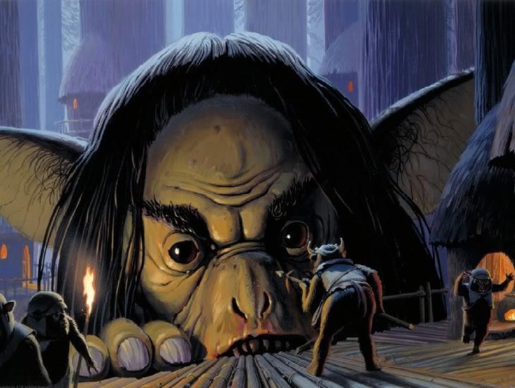 Giant Gorax Attacks the Ewoks (used in Caravan of Courage)
