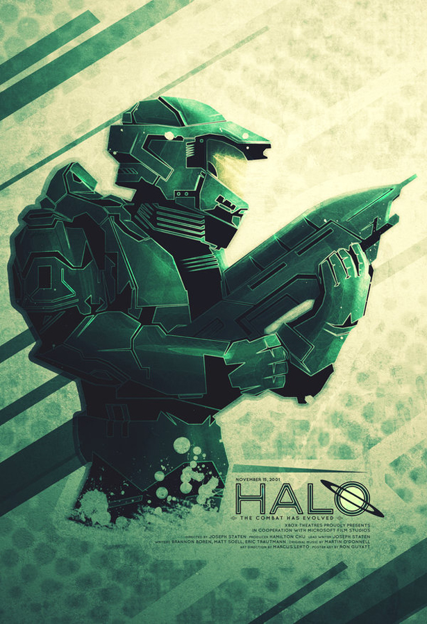 """Halo poster """"The Combat Has Evolved"""""""