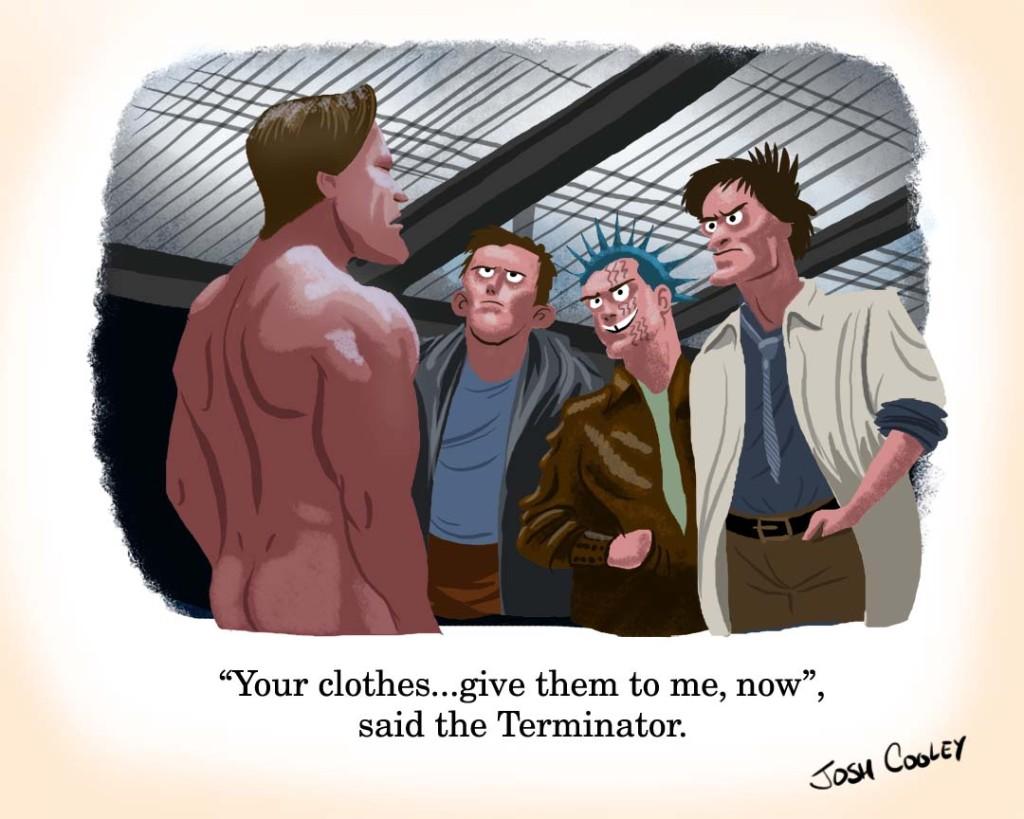 Terminator give clothes bar scene