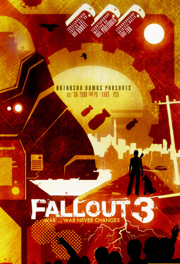 """Fallout 3 movie poster """"War Never Changes"""""""