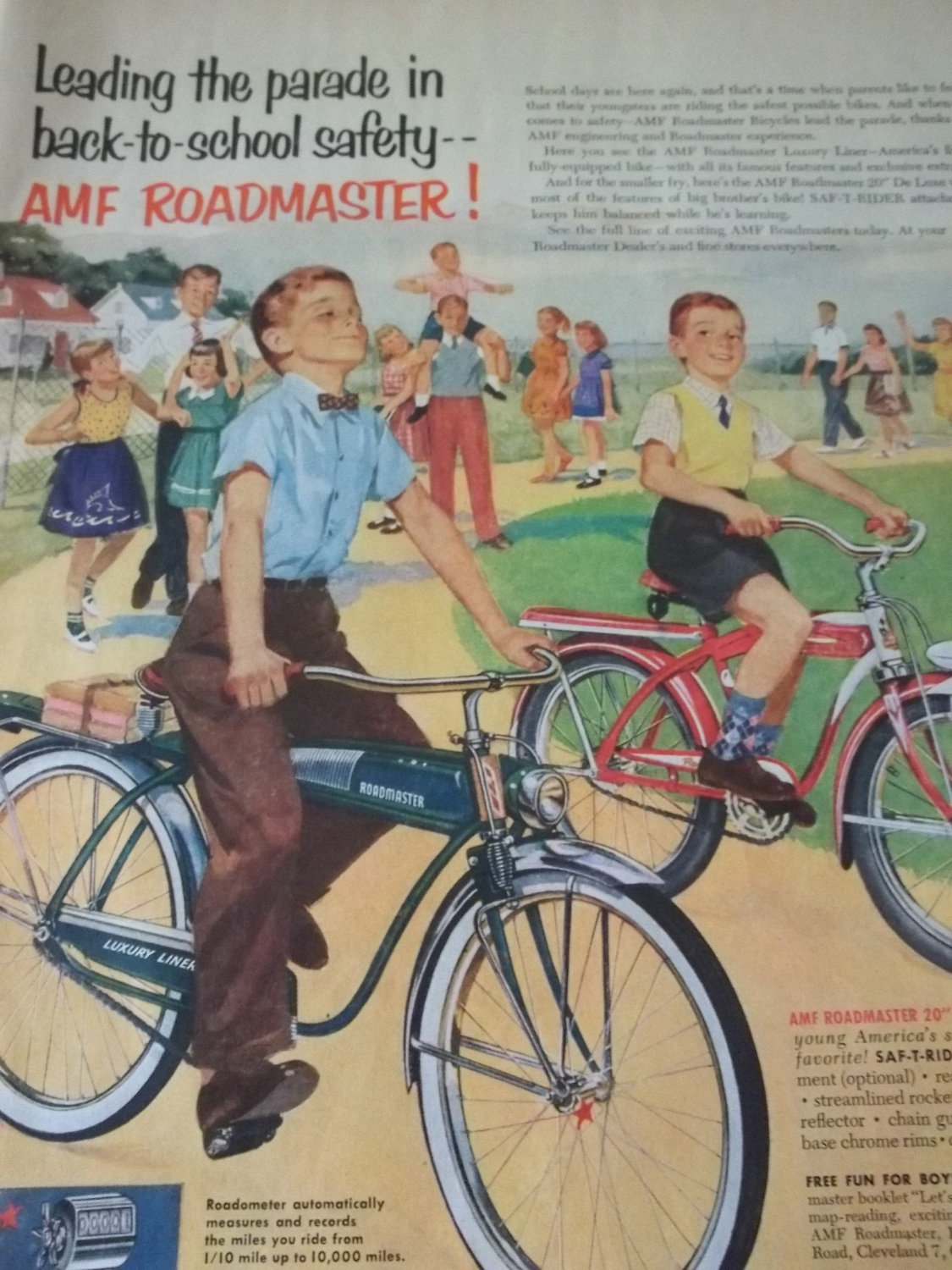 an AMF Roadmaster will get you to and from school