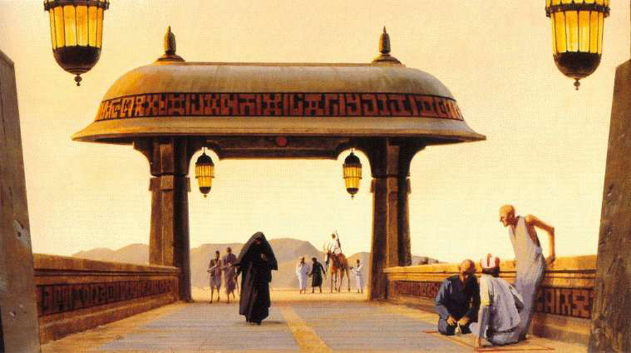 Return of the Jedi Luke Entering Jabba's Palace Gate