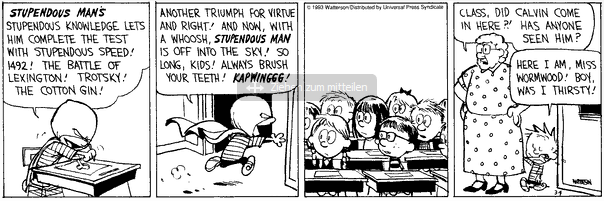 Calvin And Hobbes Use Superpowers To Fight Back To School