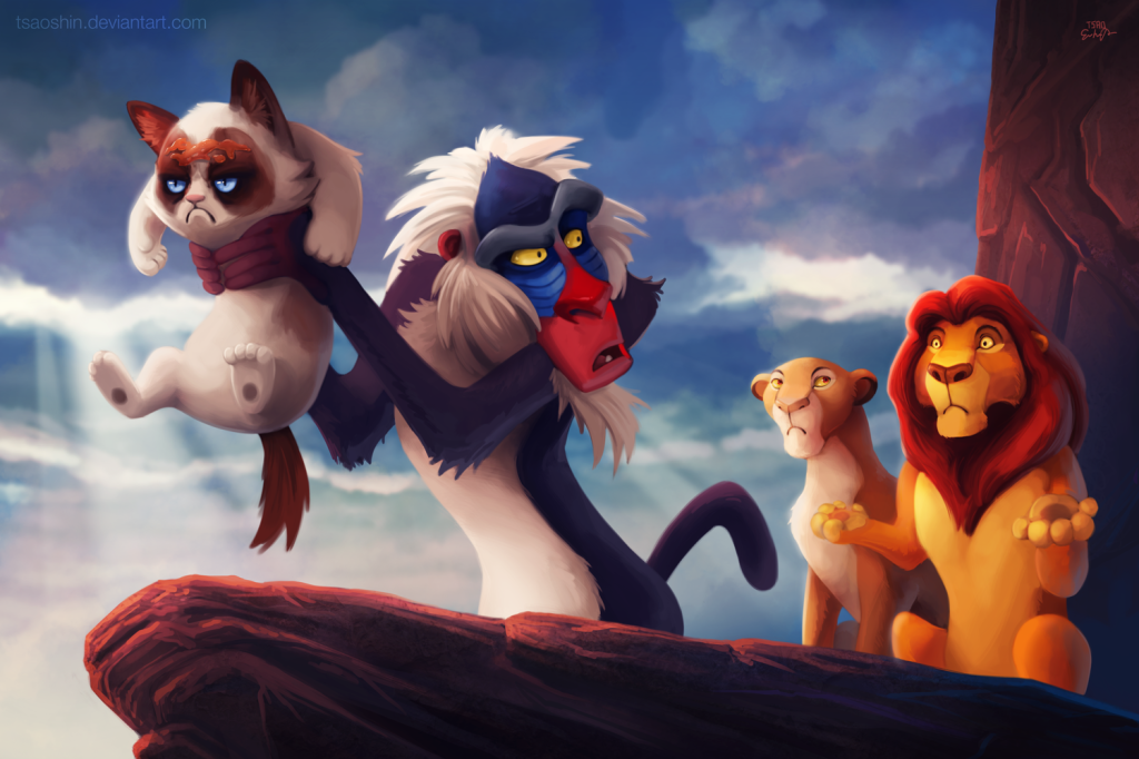 "The Lion King Grumpy Cat ""Circle of No"""