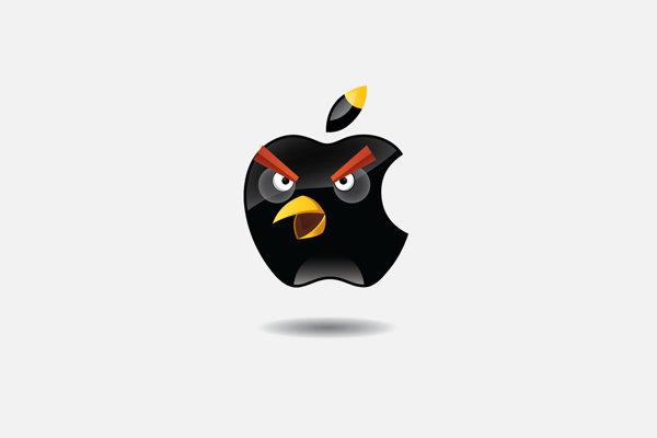 Apple bomb Bird