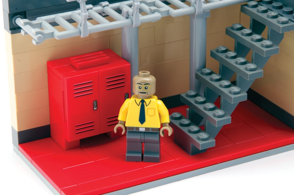 Gus Fring in the Breaking Bad LEGO meth lab