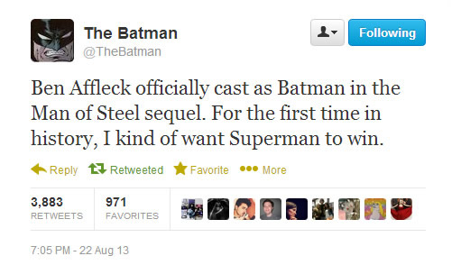The Batman on Twitter