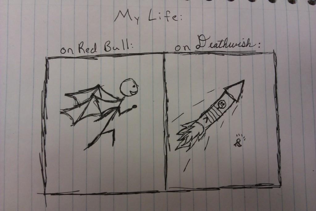 Death Wish coffee versus Red Bull