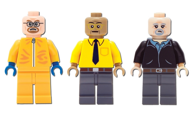 LEGO versions of Walter White, Gus Fring and Jesse Pinkman