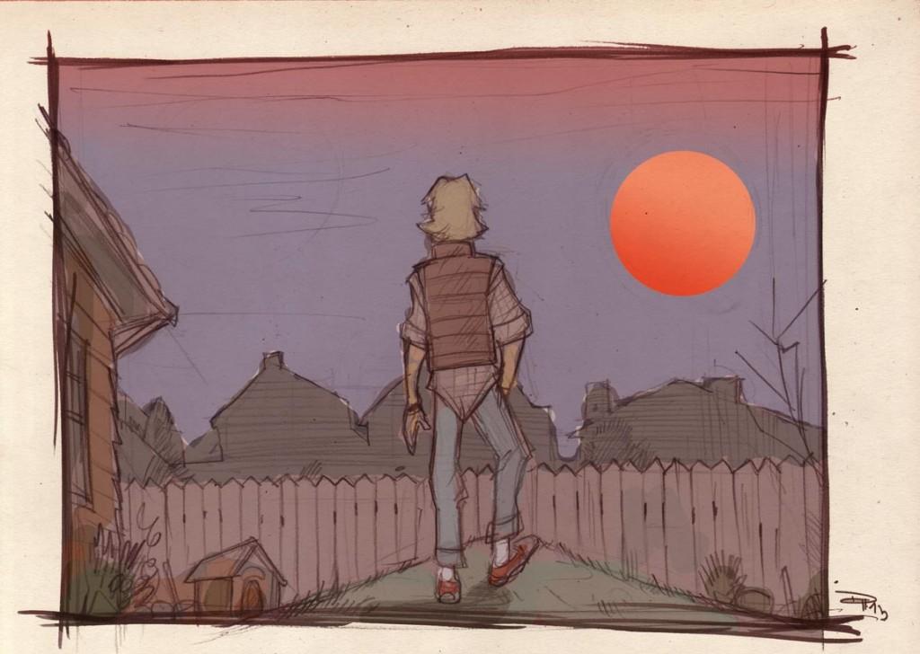 Luke staring off into the sunset