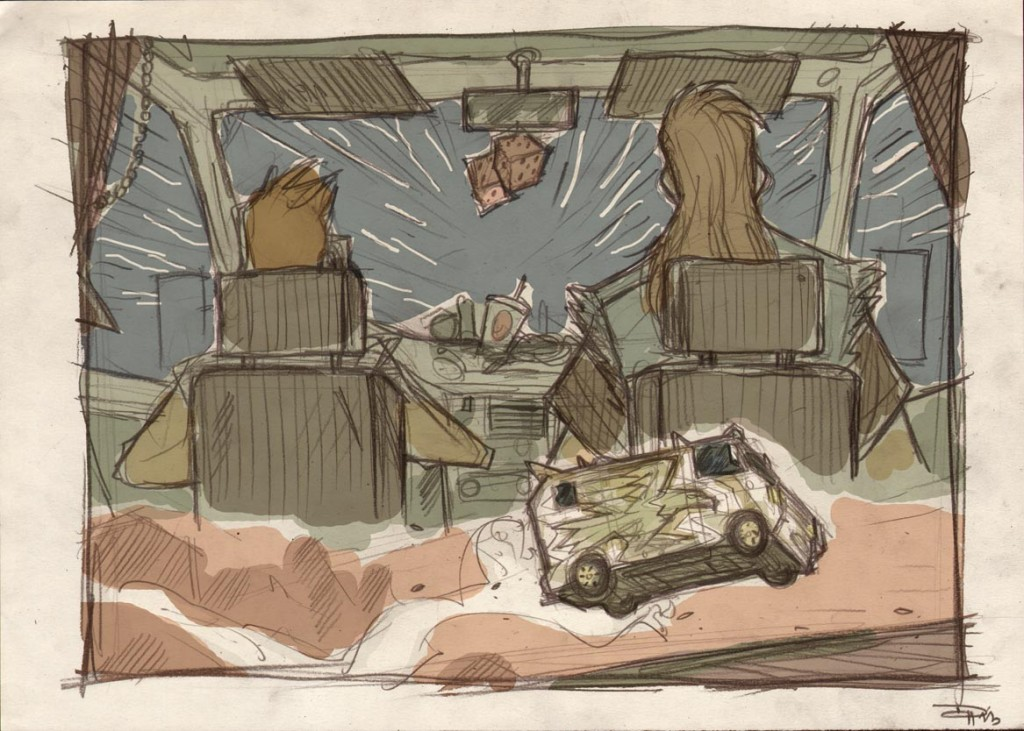 Chewy and Han in the Millennium Falcon