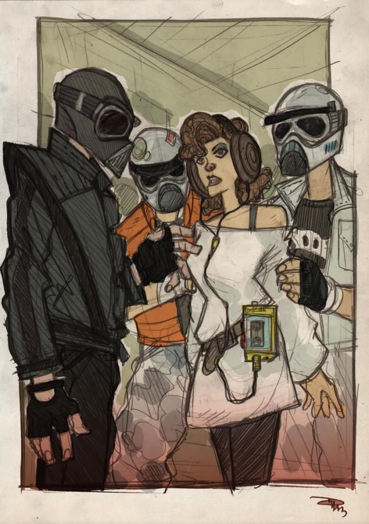 Darth Vader capturing Leia