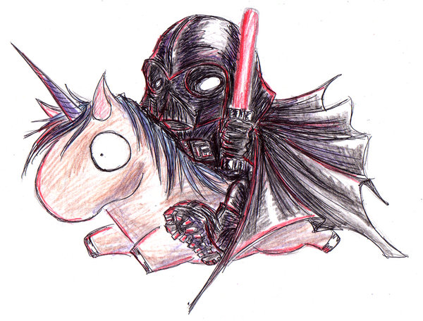 Vader on a Unicorn