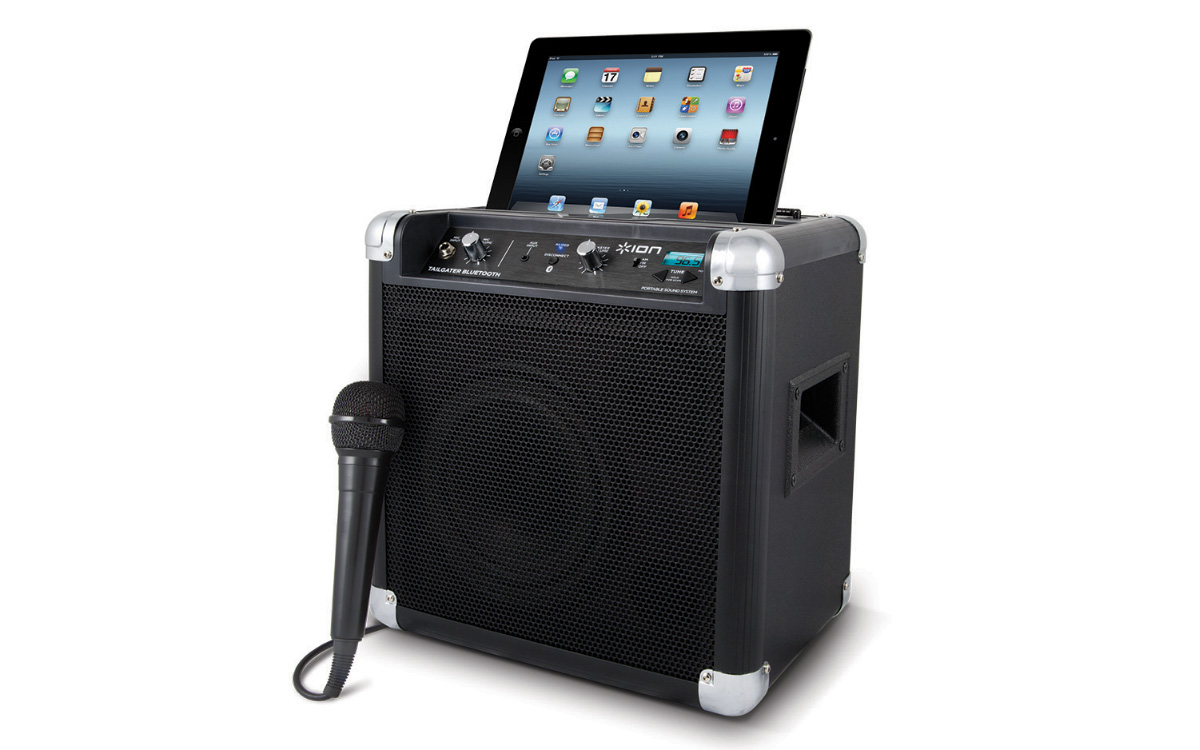 ION's Tailgater Bluetooth Portable Speaker System is perfect for tailgating.