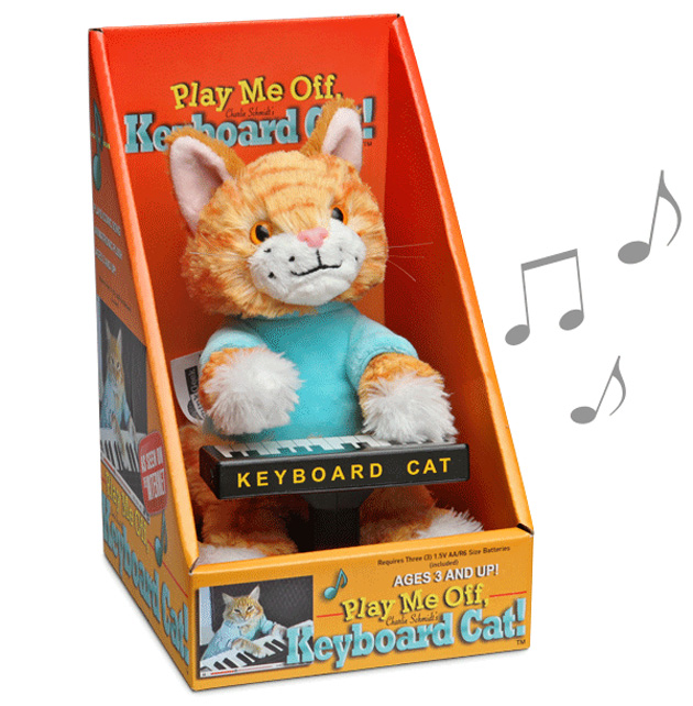 Keyboard Cat Animatronic Plush