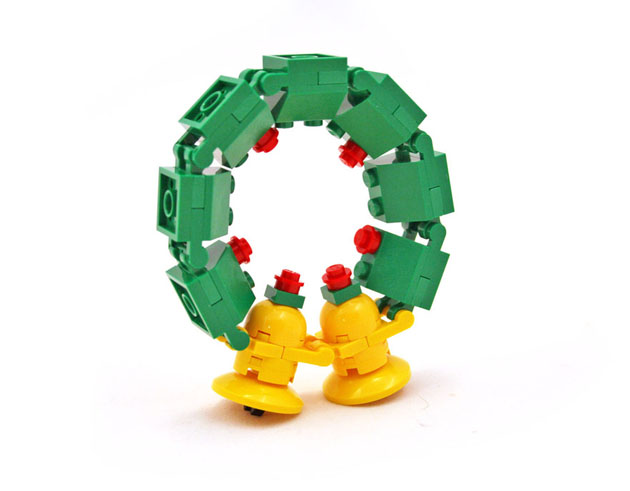 Geeky Holiday Decorations LEGO Holiday Wreath