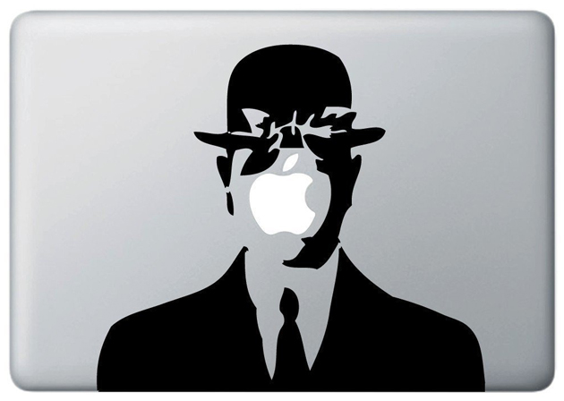 Macbook Covers: Magritte's Son of Man Decal