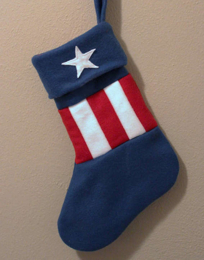Geeky Holiday Decorations Superhero Stockings