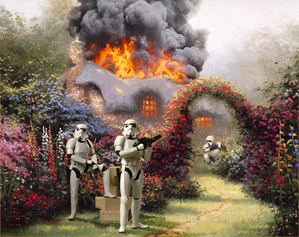 Star Wars and Kinkade Art: Fire