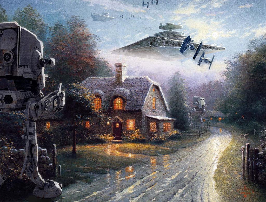 Star Wars and Thomas Kinkade Art: Entering the Atmosphere