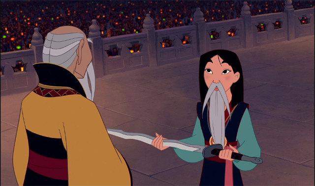 Mulan with a beard