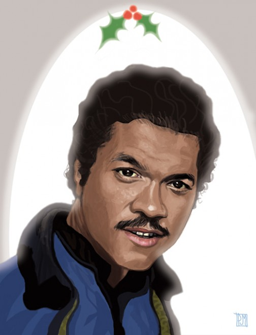 Lando-Calrissian-Christmas-Card Front