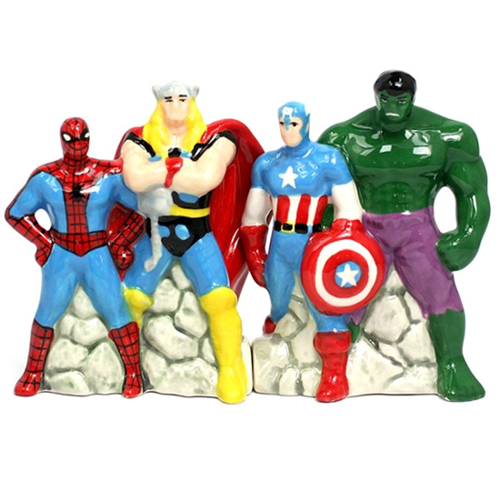 Marvel Superheroes Salt and Pepper Shakers