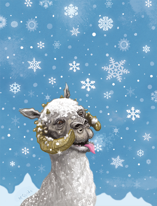 Hoth Christmas Card Front