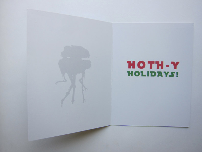 Hoth Christmas Card Inside
