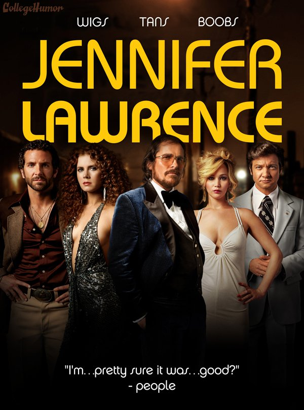 American Hustle Jennifer Lawrence movie posters
