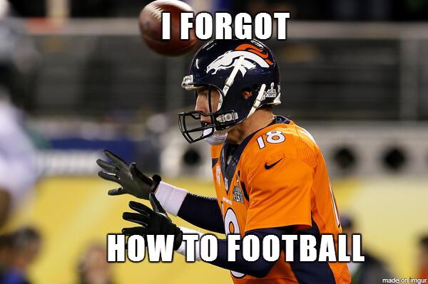 Super Bowl meme I forgot how to football