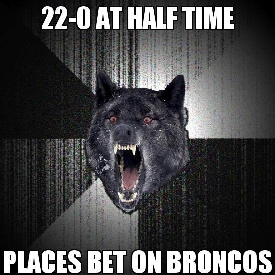 Super Bowl meme Insanity Wolf places a bet