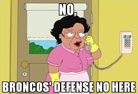 Broncos defense not home