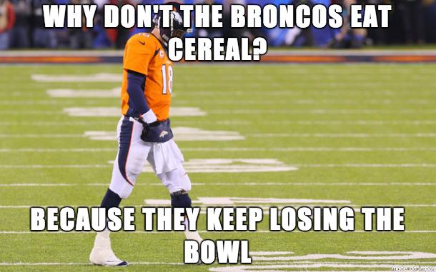 Broncos cereal joke