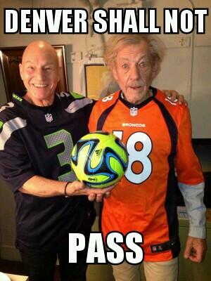 Gandalf calls the Super Bowl