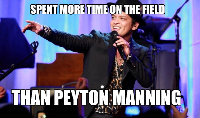 Spent more time on the field than Peyton