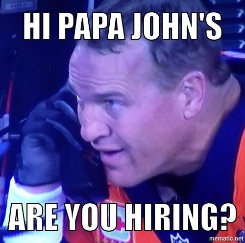 Hey Papa John's are you hiring?