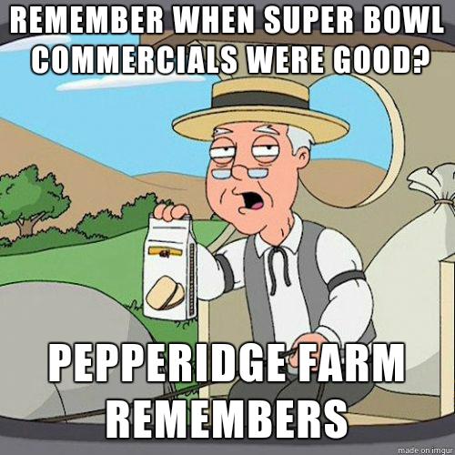 Remember when super bowl commercials were good?
