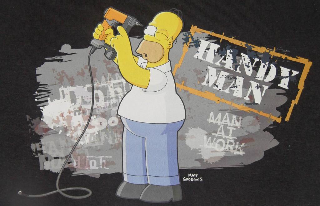 Homer Simpson moving handyman