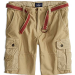 AE Men's Belted Cargo Shorts $15 at American Eagle