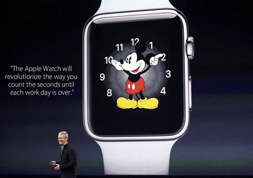 The Apple Watch will revolutionize the way you count the seconds until each work day is over. - fake tim cook quote 2