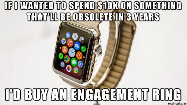 engagement meme apple watch