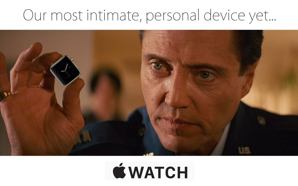 The most intimate, personal device ever Apple watch - Christopher Walken meme pulp fiction