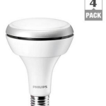 4-Pack Philips BR30 9W (65W) LED Flood Light Bulb $40 at Home Depot