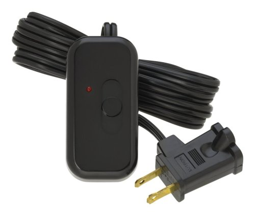 Lutron TT-300NLH-BL Credenza Lamp Dimmer Black