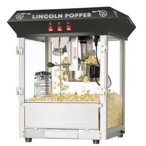Great Northern Popcorn Black Bar Style 8 Ounce Antique Popcorn Machine