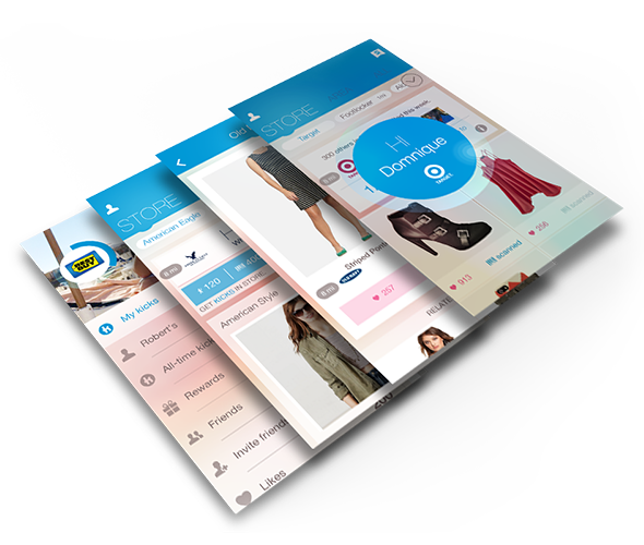Shopkick shopping app for iOS and Android.